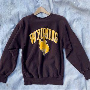 Vintage Wyoming Cowboys distressed sweatshirt